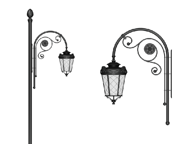 Obsidian - Wall Sconce Arm Models
